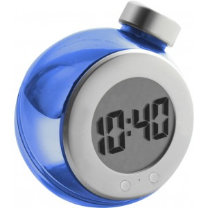 LCD water powered desk clock, Blue/silver (4549-52)
