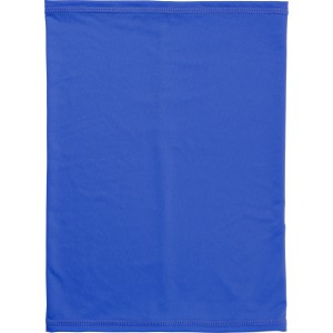 Multifunctional polyester scarf and mask, cobalt blue (9413-23)
