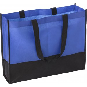 Nonwoven (80 gr/m2) shopping bag, Cobalt blue (0971-23)
