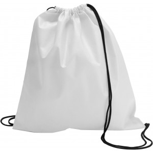 Nonwoven drawstring backpack, White (backpack)