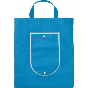 Nonwoven foldable carrying/shopping bag, Pale blue (shopping bag)