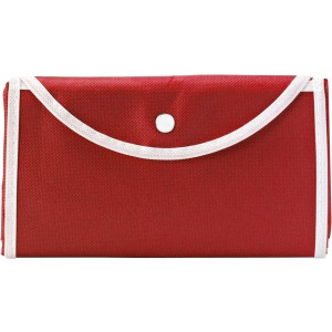 Nonwoven foldable carrying/shopping bag, Red (shopping bag)