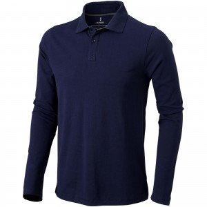 Oakville long sleeve men's polo, Navy (3808649)