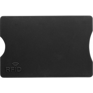 Plastic card holder with RFID protection, Black (plastic card holder (not business card))