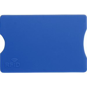 Plastic card holder with RFID protection, cobalt blue (Wallets)