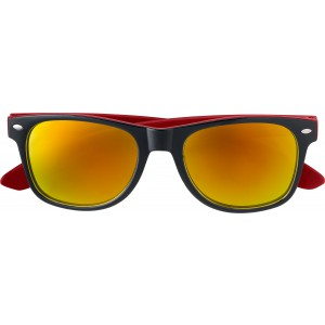 Plastic sunglasses with UV400 protection, Red (7889-08)