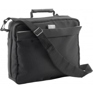 Polyester (1680D) laptop/document bag (14'), black (6209-01)