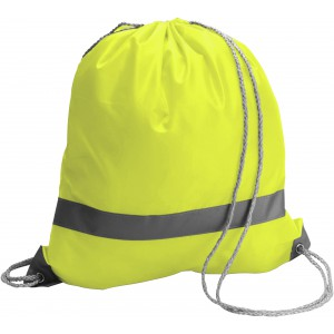 Polyester (190T) drawstring backpack, yellow (6238-06CD)