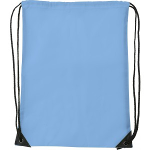 Polyester (210D) drawstring backpack, light blue (7097-18CD)