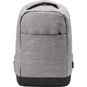 Polyester (600D) anti-theft backpack, light grey (7879-27CD)