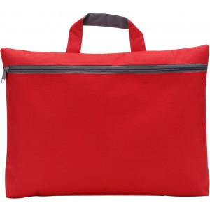 Polyester (600D) conference bag, red (5235-08)