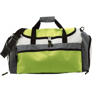 Polyester (600D) sports bag, lime (3854-19)