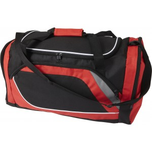 Polyester (600D) sports bag, red (7658-08)
