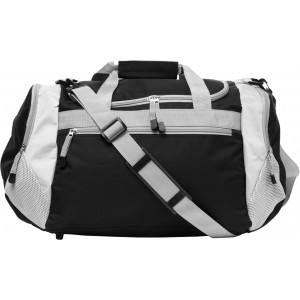 Polyester (600D) sports/travel bag, black (5675-01)