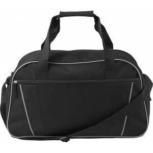 Polyester (600D) sports/travel bag, black (7948-01)