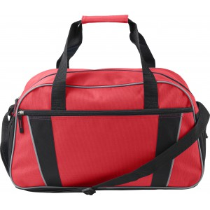 Polyester (600D) sports/travel bag, red (7948-08)