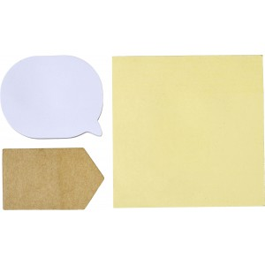Pouch with 3 types of sticky notes, White (7805-02CD)