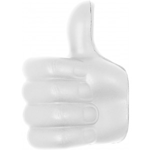 PU anti stress thumbs-up, white (8576-02)