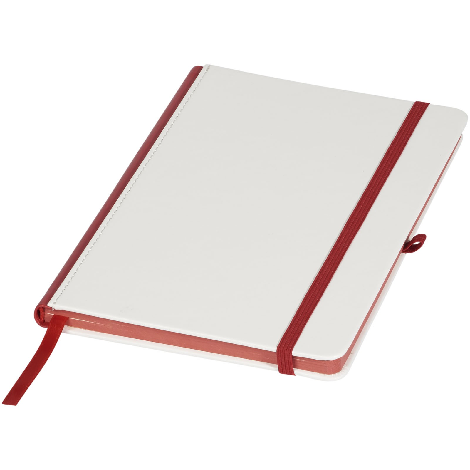pu cover digital print notebook with coloured spine white notepad