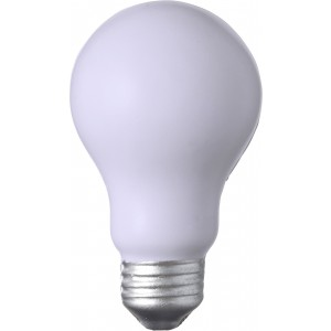 PU foam anti stress light bulb, White (7249-02)