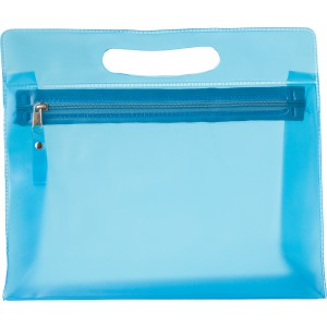 PVC Frosted toilet bag, Pale blue (6447-18)