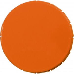 Round container with 12g sugar free mints, Orange (3546-07)