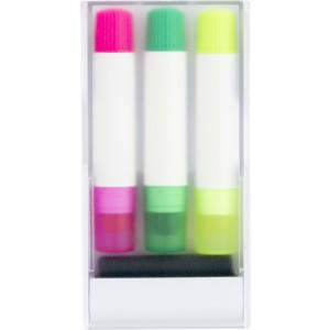 Set of three gel markers, white (3445-02)