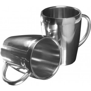 Set of two steel mugs, Silver (4665-32)