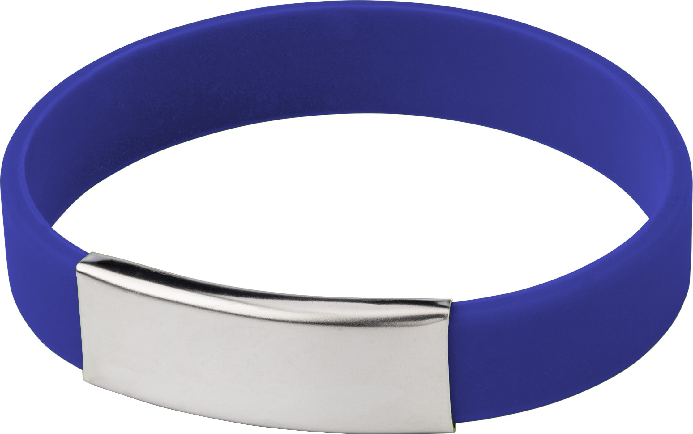 Silicone wristband with metal plate., Cobalt blue (Kitchen plastic ...