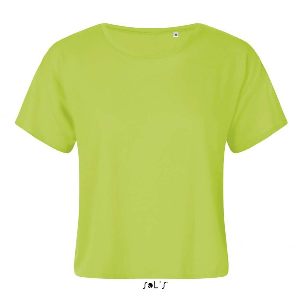 50c6e534244 Sols Maeva Women Crop Top, Neon Green, 1 (T-shirt, mixed fiber ...
