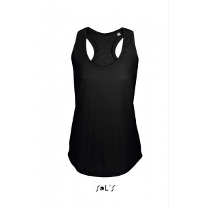 Sols Moka Women Tank Top, Deep Black, L (SO00579DBL)