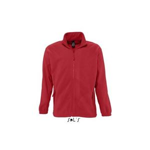 Sols North Fleece Jacket, Red, XL (Sweater)