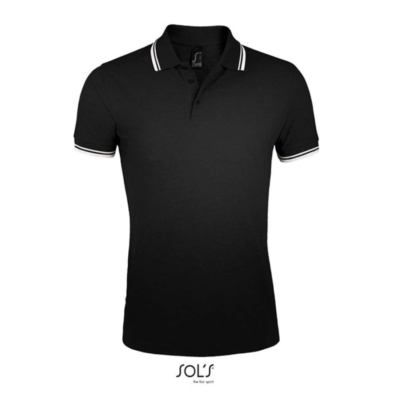 Red Blue Green Men Regular Fit Cotton Polo Shirts Classic Short Sleeve Polo Black