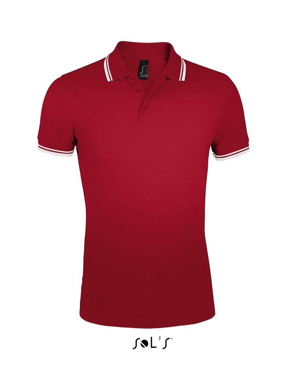 3458aaa8734642 Sols Pasadena Men Polo Shirt, Red/White, S (Polo T-shirt, 90-100 ...
