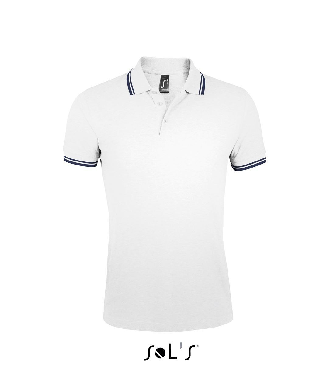 shop best sellers great look 100% high quality Sols Pasadena Men Polo Shirt, White/Navy, 3XL (Polo T-shirt, 90 ...