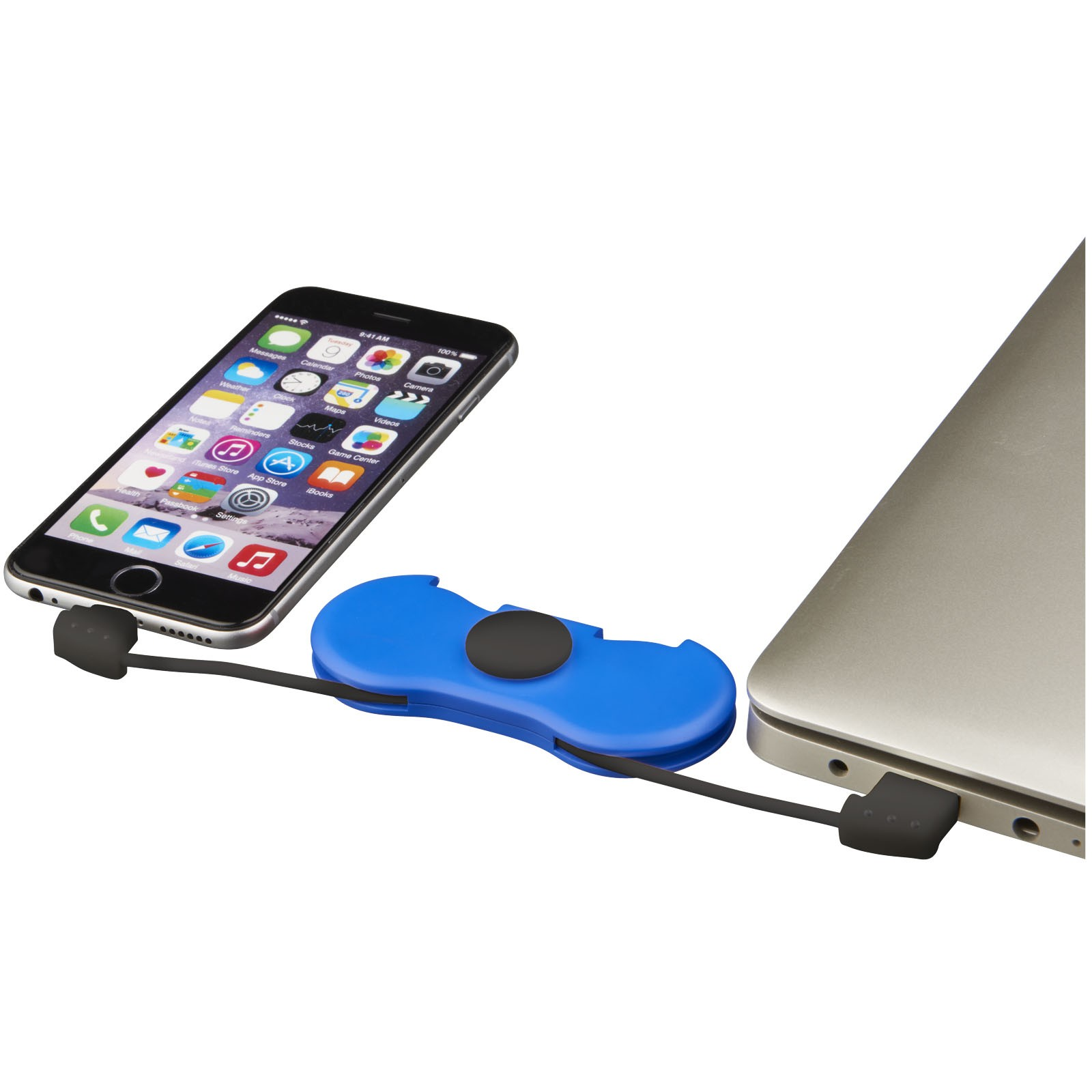 Spin-It Widget with Charging Cable, blue, 9,3 x 4,2 x 1,7 cm ...