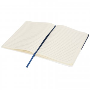 Two-tone A5 canvas notebook, Blue (Notebook)