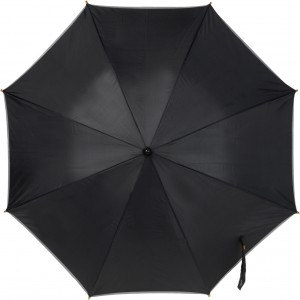 Umbrella with reflective border, black (4068-01)