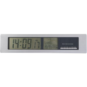 Weather station with shiny rim, Silver (3249-32)