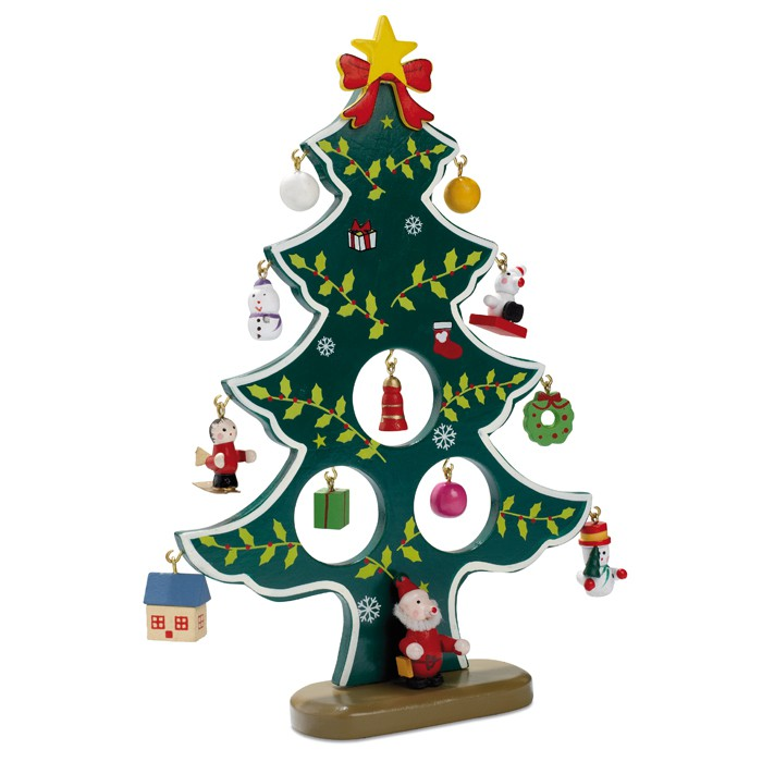wooden xmas tree decoration christmas accessories - Christmas Tree Accessories