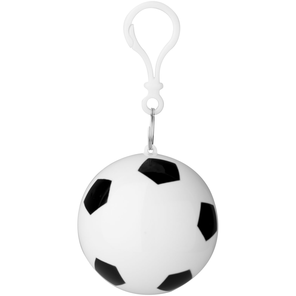 Xina rain poncho - football, white, d: 6,5 cm (rain coat